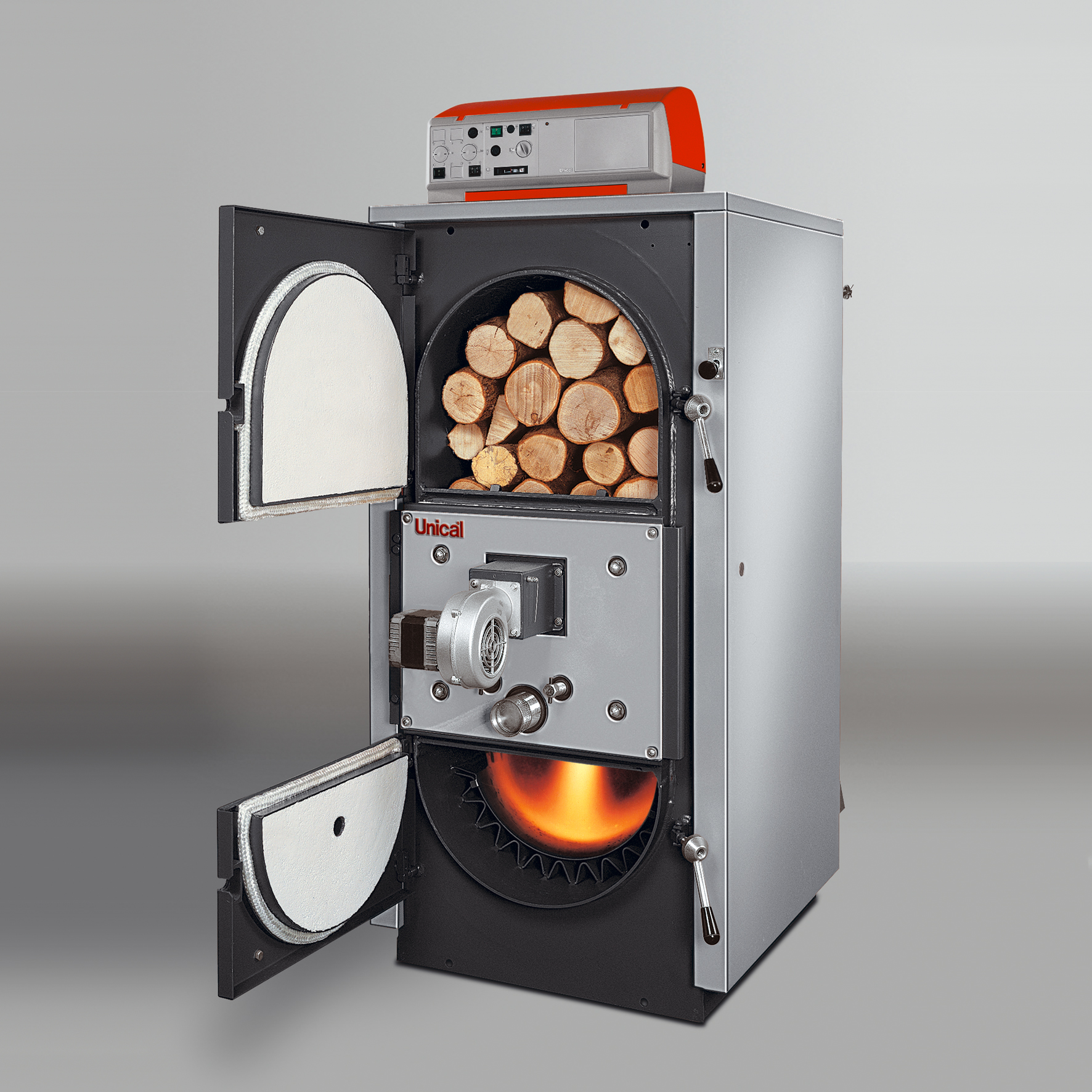 Unical Gasogen 25kw Wood Fired Log Gasification Boiler